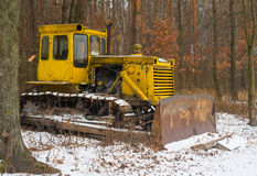 Tractor in the woods Stock Image