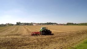 Tractor during work stock footage