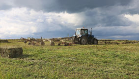Tractor work in the field Royalty Free Stock Photos