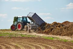 Tractor at work Royalty Free Stock Photo