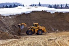 Tractor work in opencast Stock Photo