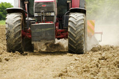 Tractor at work royalty free stock photography