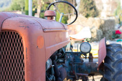 Tractor. The workforce of the tractor that helps people in the country for a long time Royalty Free Stock Photos