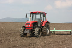A tractor working Stock Photo