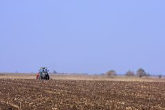 Tractor working Royalty Free Stock Images