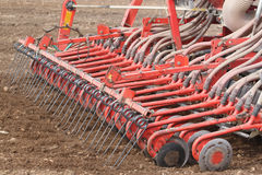 Tractor working. On the field Stock Images