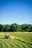 Tractor working, agricultural work Stock Images