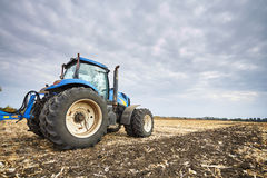 Tractor working in field Royalty Free Stock Images