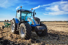 Tractor working in field Royalty Free Stock Photography