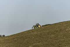 Tractor working on a field Stock Image