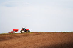 Tractor working field Royalty Free Stock Photography