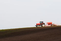 Tractor working field Royalty Free Stock Images