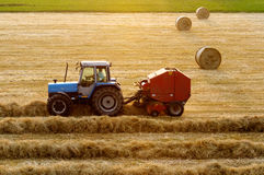 Tractor working Royalty Free Stock Photos