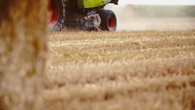 Tractor working on field. stock footage