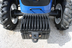 Tractor working, a modern agricultural tool.  stock image