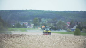 Tractor working stock footage