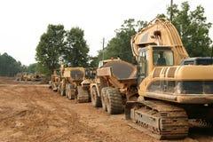 Tractoren in een lijn Royalty-vrije Stock Foto