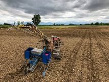 Tractoren voor graanaanplanting Royalty-vrije Stock Fotografie