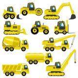 Tractores y camiones stock de ilustración