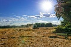 Tractores y cosecha - vintage Imagenes de archivo