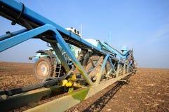 Tractorherbiciden Stock Foto