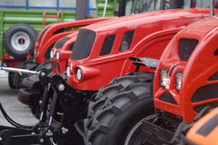 Tractors. Agricultural tractors front and wheels Stock Images