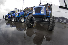 Tractors. Sit outside, waiting to be used Royalty Free Stock Image