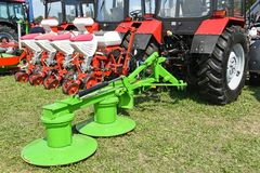 Tractors and agricultural machineries Stock Images