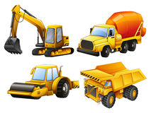 Tractors and bulldozers in yellow Stock Images