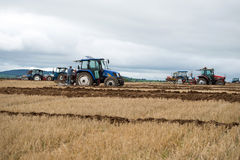 Tractors competing in the national ploughing championships Stock Photography