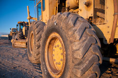 Tractors in construction site. Tractors in a construction site Royalty Free Stock Photography