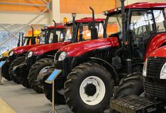 Tractors on exhibition Royalty Free Stock Image