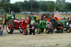 Tractors Farmall and John Deere Royalty Free Stock Photography