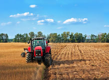 Tractors on field Stock Photo