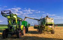 Tractors and harvesting - vintage Royalty Free Stock Photography