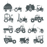 Tractors icon set Stock Photography