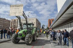 Tractors invade the city of Murcia