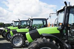 Tractors, latest model Stock Images