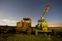 Tractors light painting Stock Images