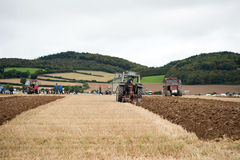 Tractors  in the national ploughing championships Royalty Free Stock Image