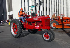Tractors in the National Western Stock Show Parade Royalty Free Stock Images