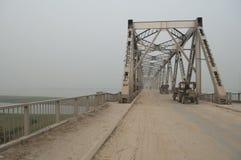 Metal bridge in Bihar, India royalty free stock image