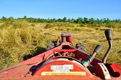 Tractors, plow-assisted machinery. Farmers in Thailand - The plow is an important machine to help plow, making farming fast and effective in the season Stock Photo