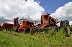 Tractors in the weed patch Stock Photos