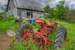 Tractors in Weeds Royalty Free Stock Photo
