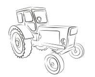 Tractorschets Stock Afbeeldingen