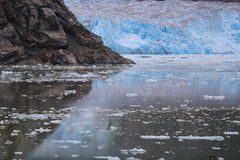 Tracy Arm Fjord Glacier stockbild