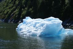 Tracy Arm Fjord - icebergs images stock