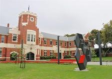 In 1974 trad de Ballarat-Universiteit en van de Presbyteriaanse Dames van Clarendon Universiteit om de coëducatie- Universiteit v Stock Afbeelding