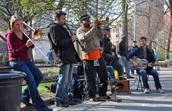 Trad. De Band van de jazz, Greenich Dorp New York Stock Afbeelding